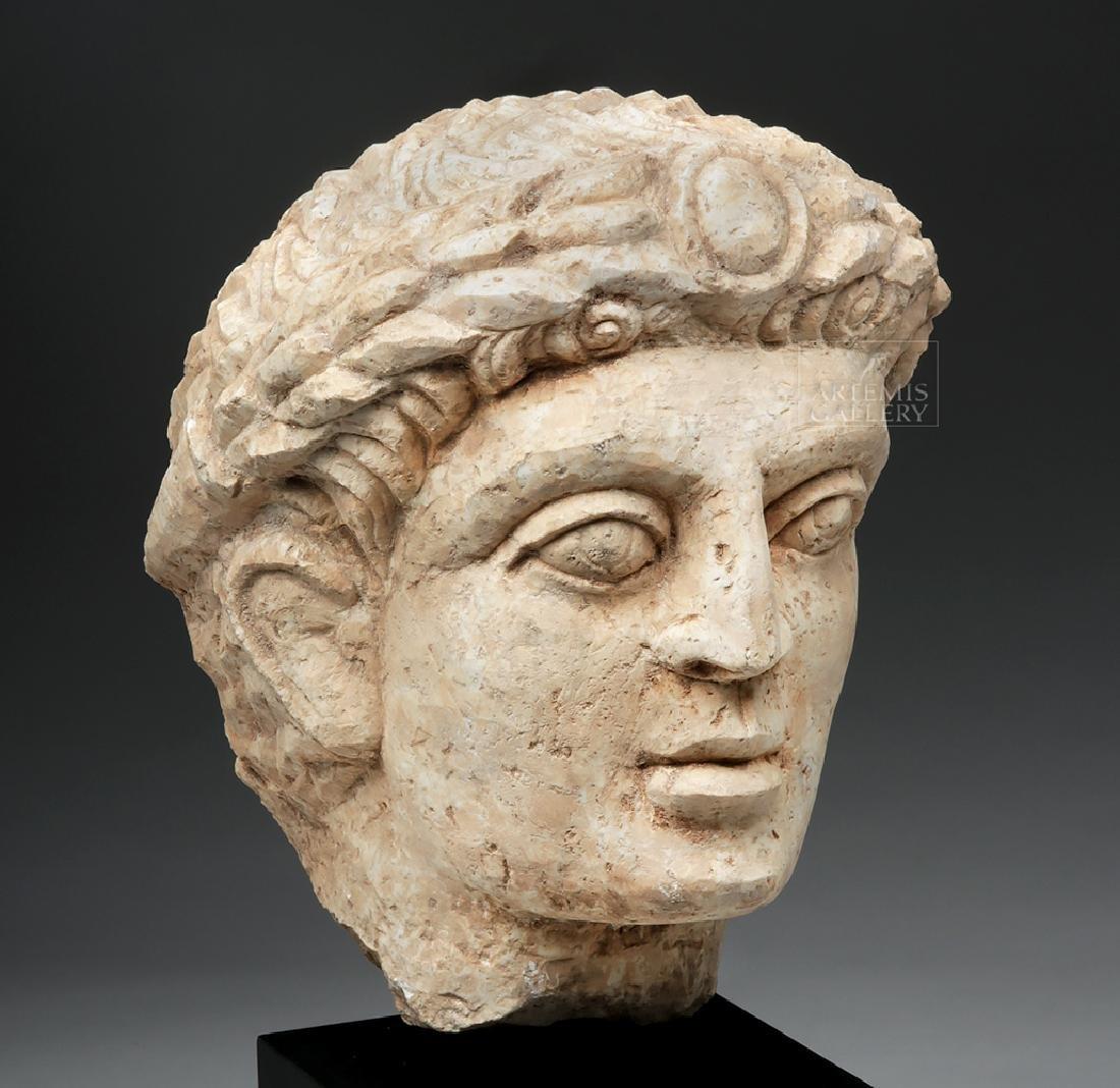 Lifesize+ Palmyrene Limestone Head - Masterpiece! - 5