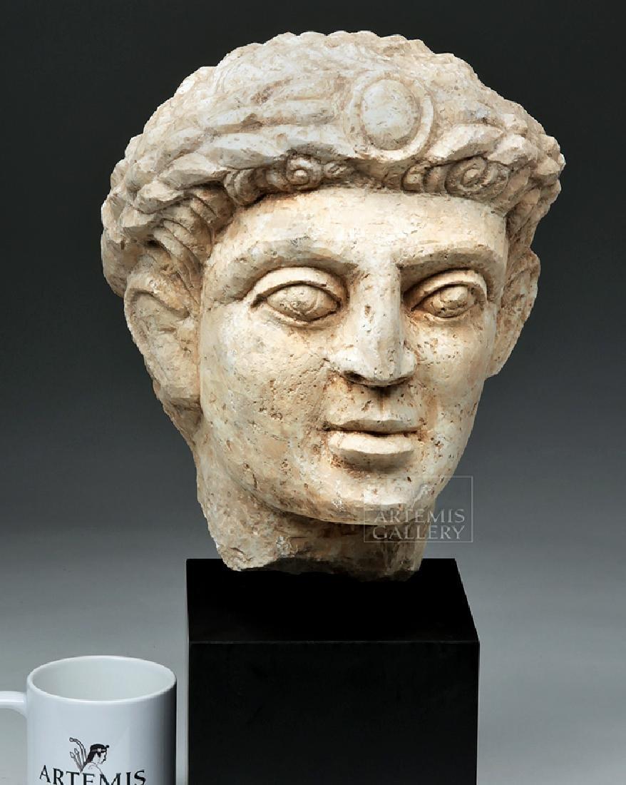 Lifesize+ Palmyrene Limestone Head - Masterpiece! - 6