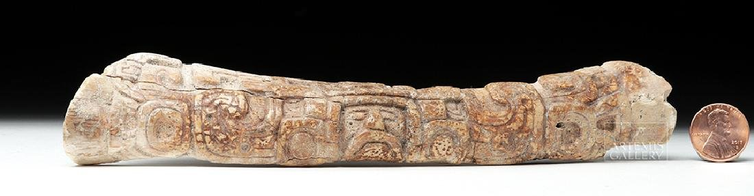Mayan Bone Carving - Relief Portrait of Lord - 6