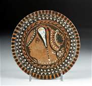 Greek Apulian Red-Figure Plate - Lady of Fashion