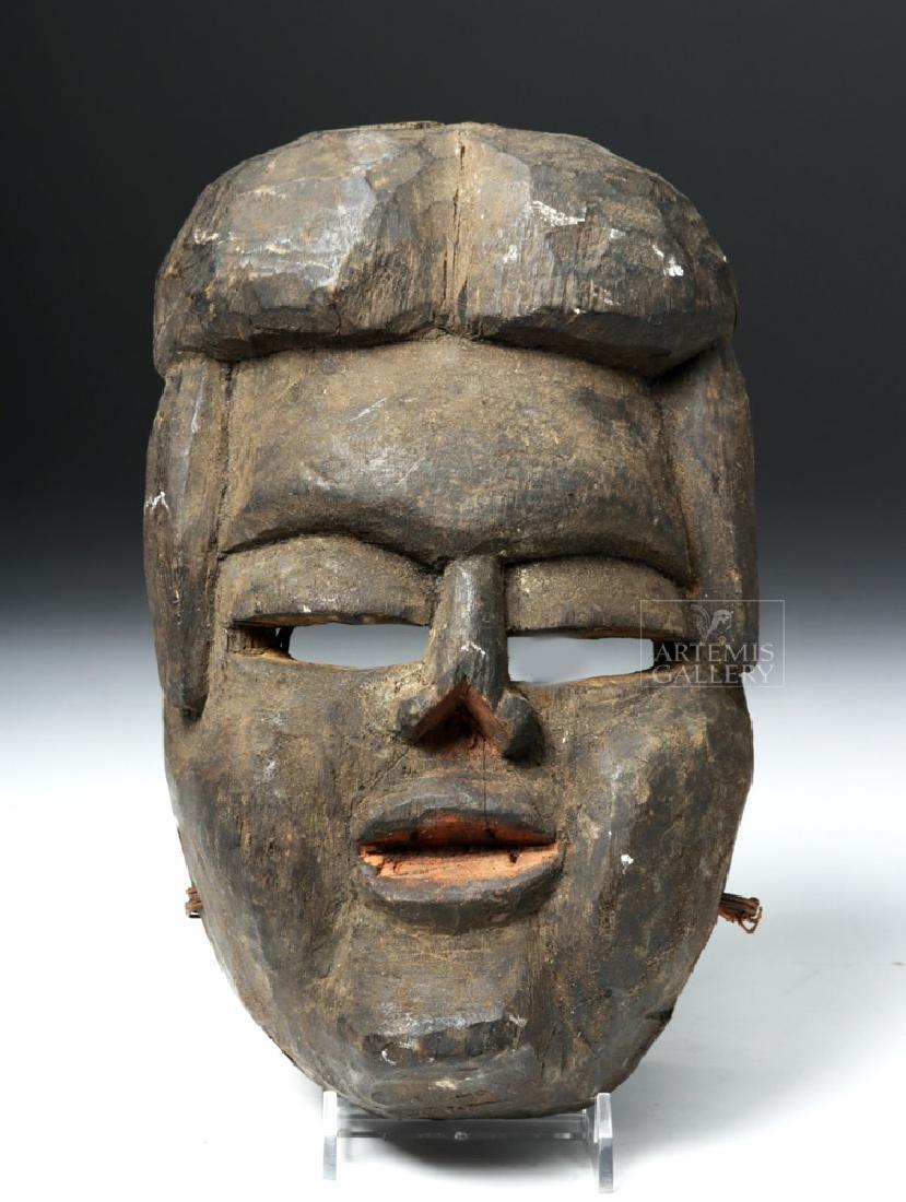 Early 20th C. Bini (Edo) Wood Mask