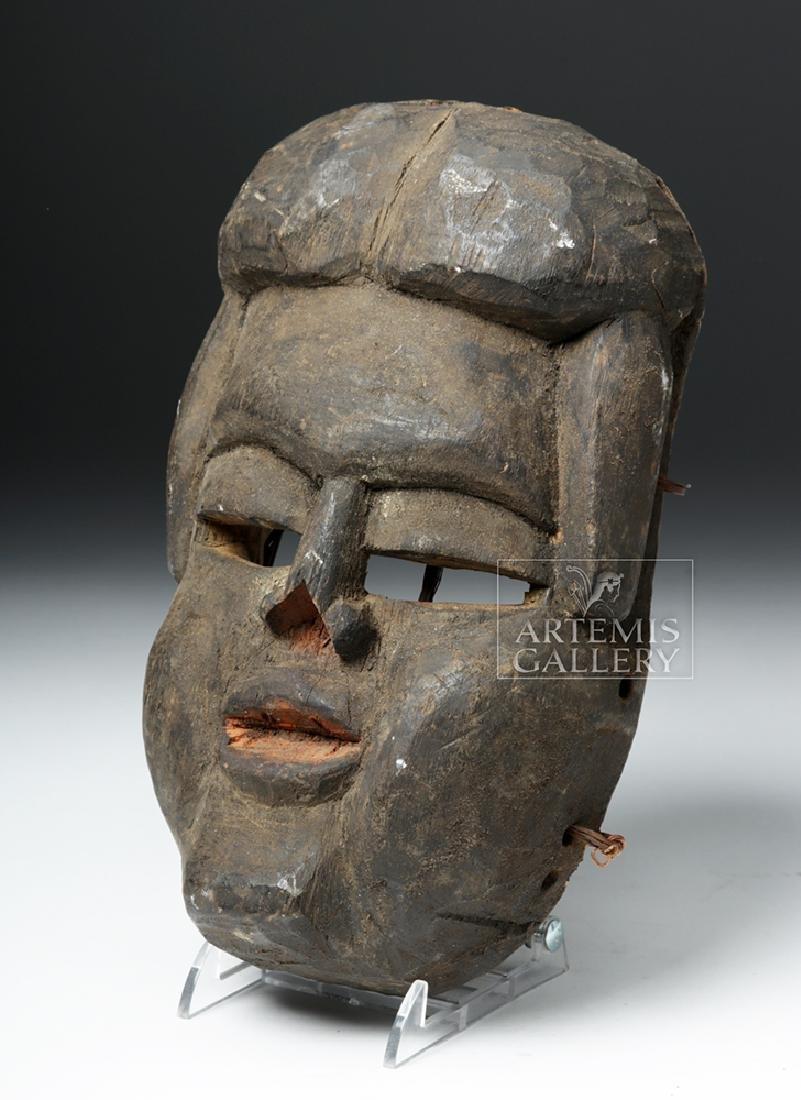 Early 20th C. Bini (Edo) Wood Mask - 2