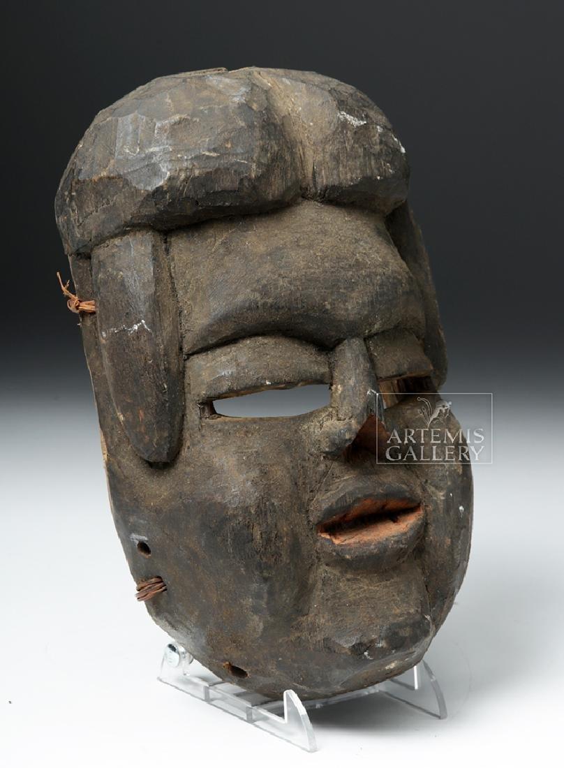 Early 20th C. Bini (Edo) Wood Mask - 3