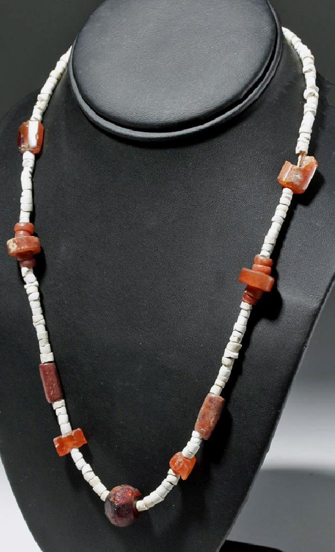 Ancient Persian Amber & Carnelian Necklace