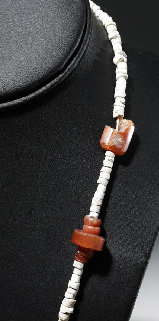 Ancient Persian Amber & Carnelian Necklace - 4