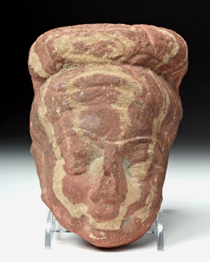 6th C. Indian Gupta Sandstone Head of Woman