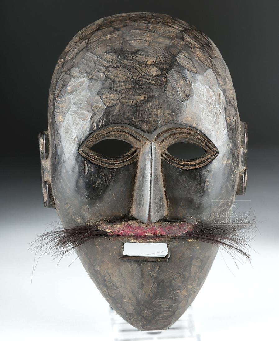 Early 20th C. Nepalese Wooden Festival Mask