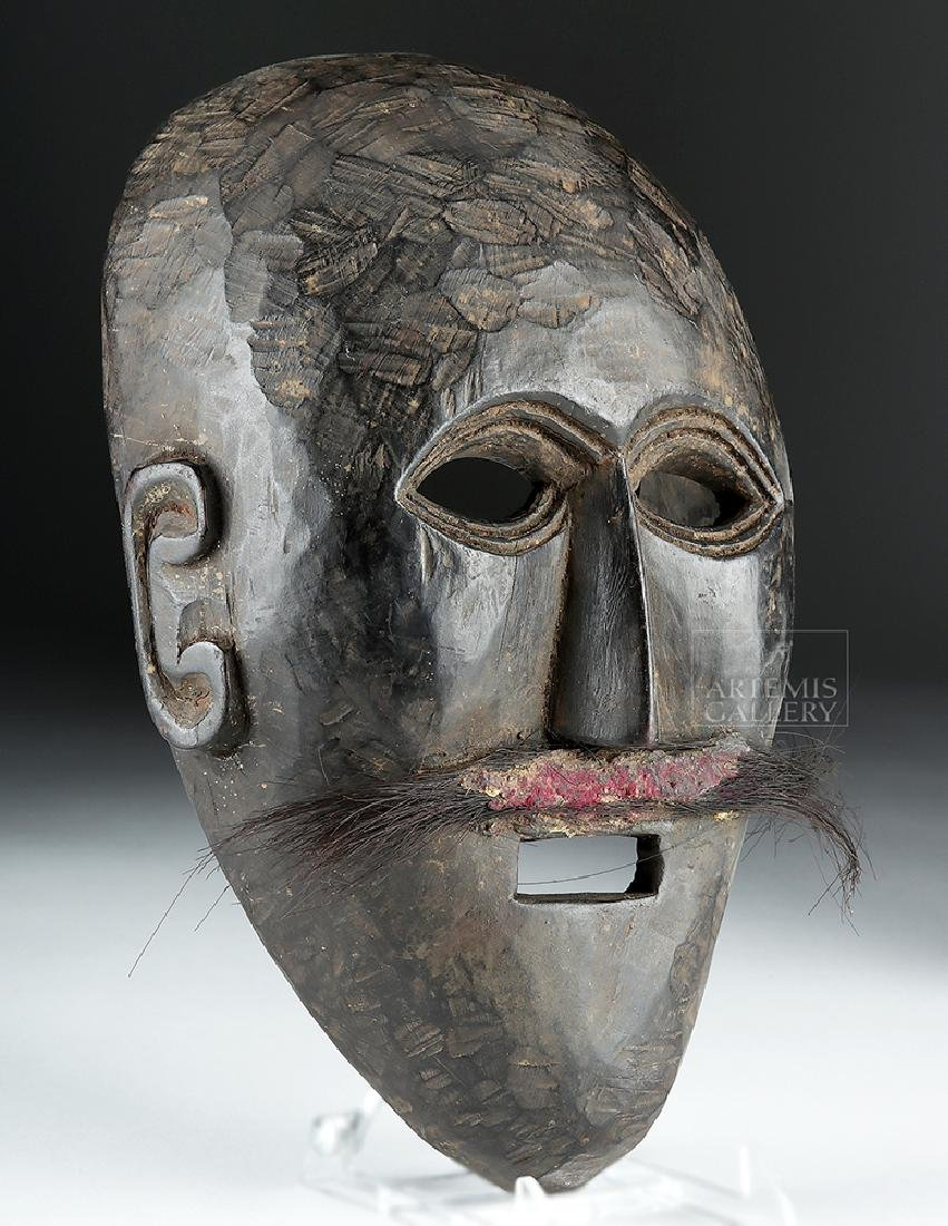Early 20th C. Nepalese Wooden Festival Mask - 2