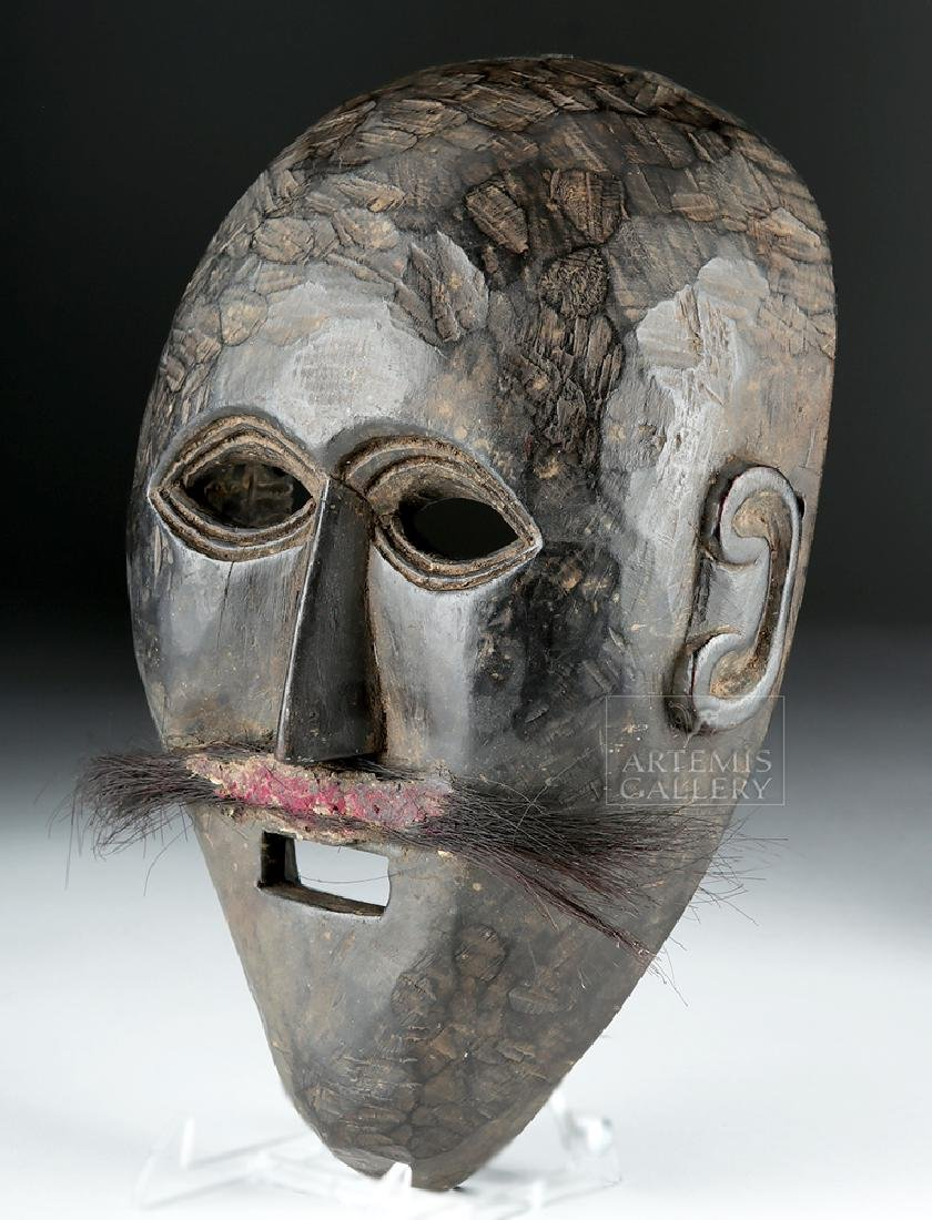 Early 20th C. Nepalese Wooden Festival Mask - 3