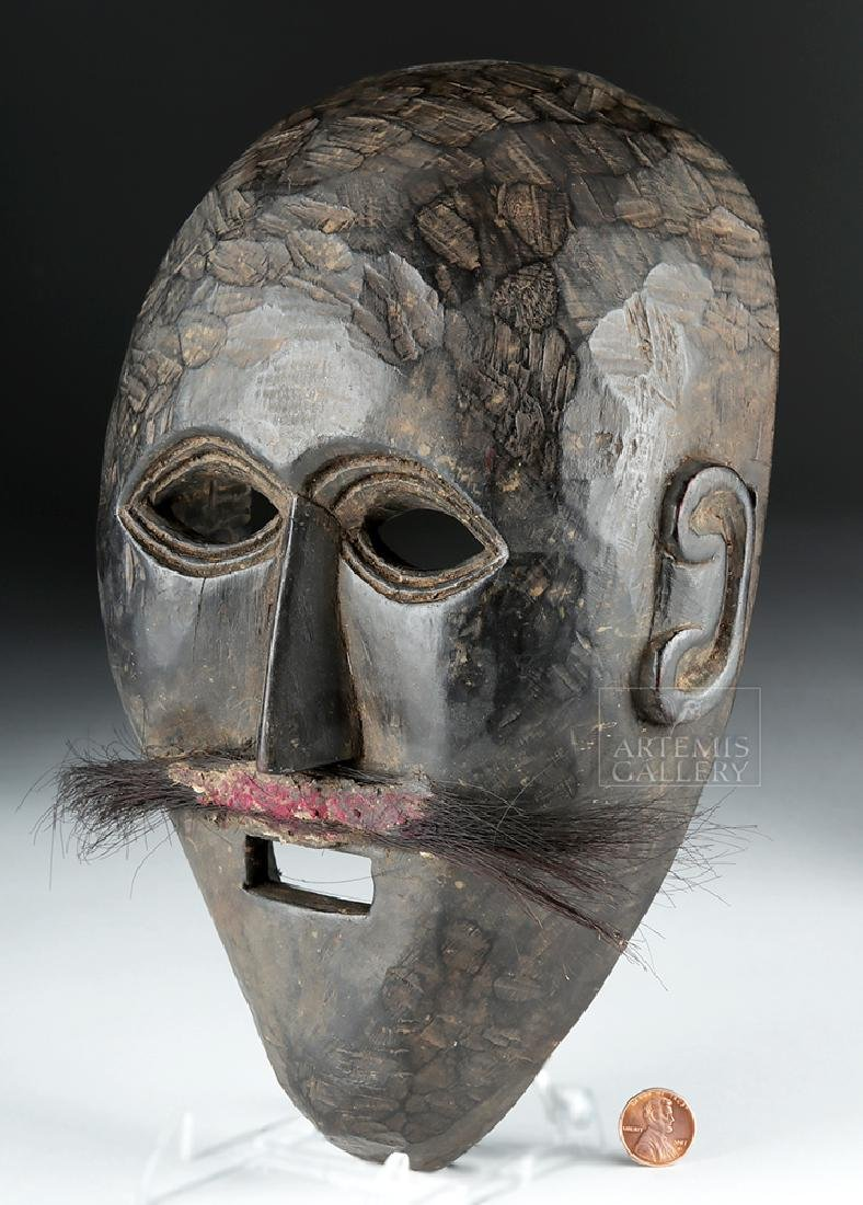 Early 20th C. Nepalese Wooden Festival Mask - 4