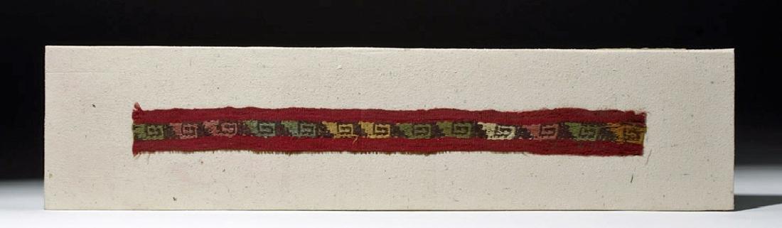Colorful Chimu Inca Textile Strap