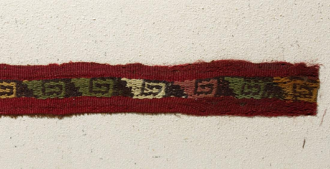 Colorful Chimu Inca Textile Strap - 3