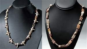 Pair of Mixtec Spondylus Shell Necklaces