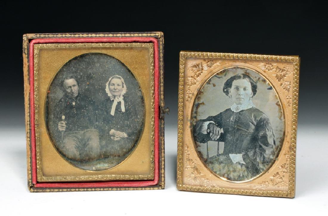 Pair of 19th C. Antique Daguerreotype Photos