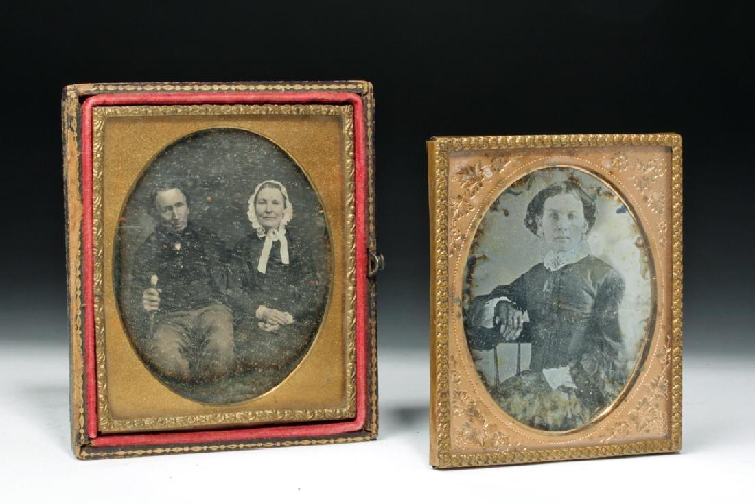 Pair of 19th C. Antique Daguerreotype Photos - 2