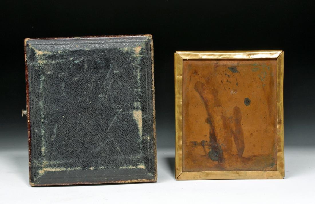 Pair of 19th C. Antique Daguerreotype Photos - 3