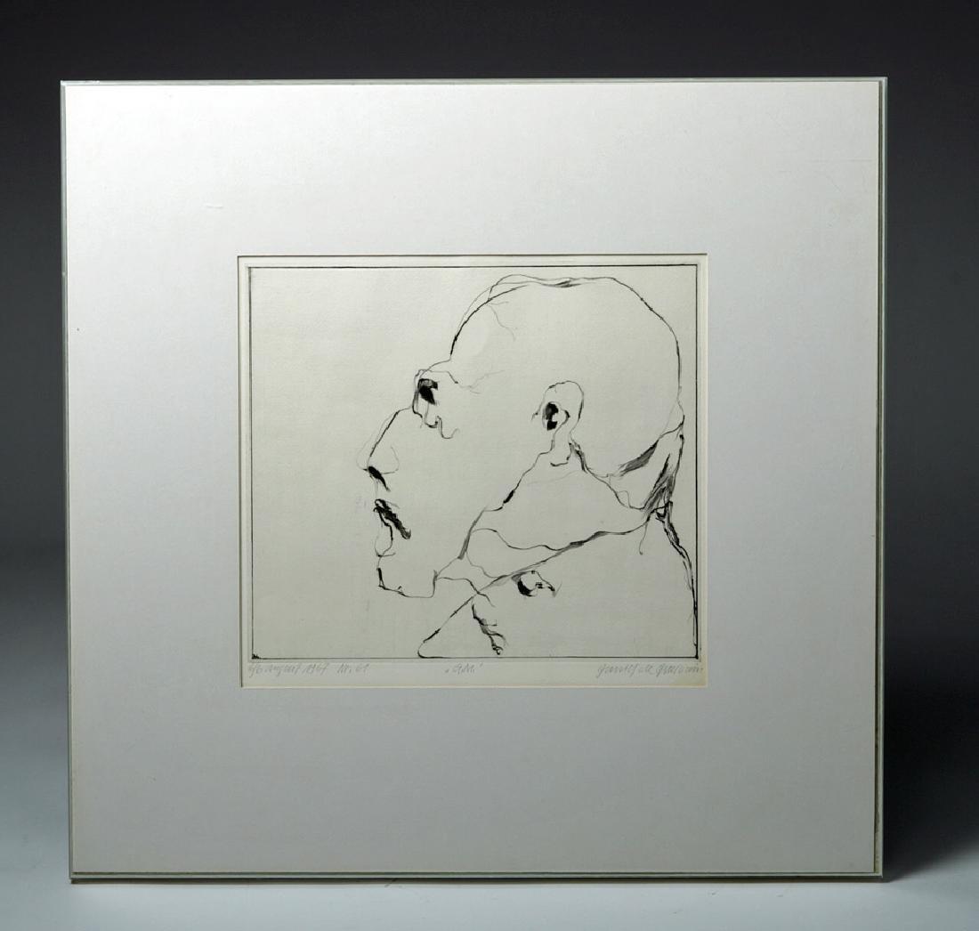 D. De Quervain Drypoint Engraved Portrait, 1967