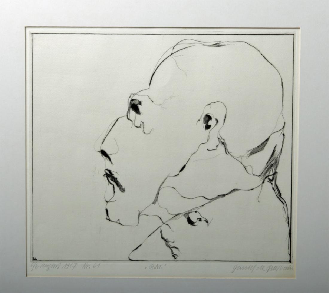 D. De Quervain Drypoint Engraved Portrait, 1967 - 2