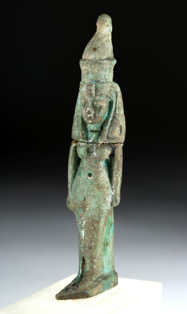 Egyptian Late Dynastic Faience Mut Amulet, ex-Bonhams