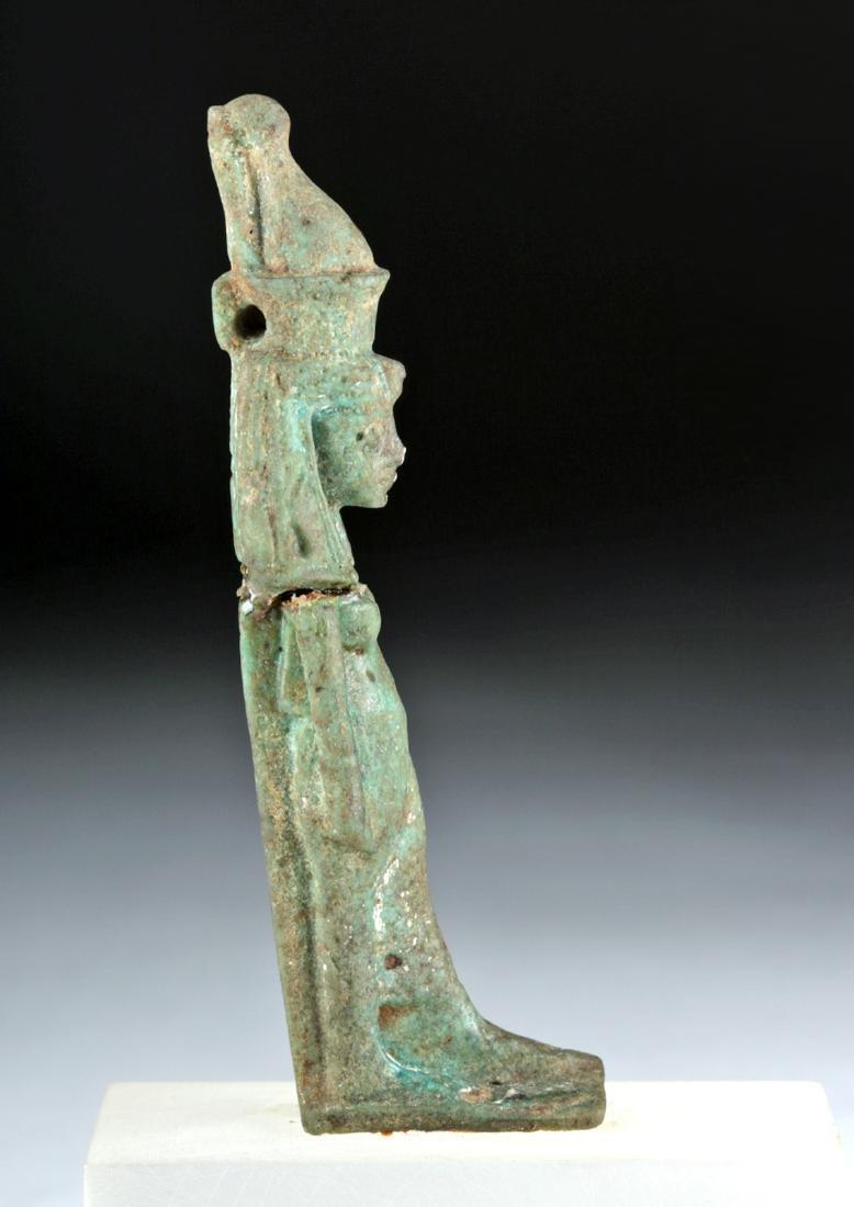 Egyptian Late Dynastic Faience Mut Amulet, ex-Bonhams - 3