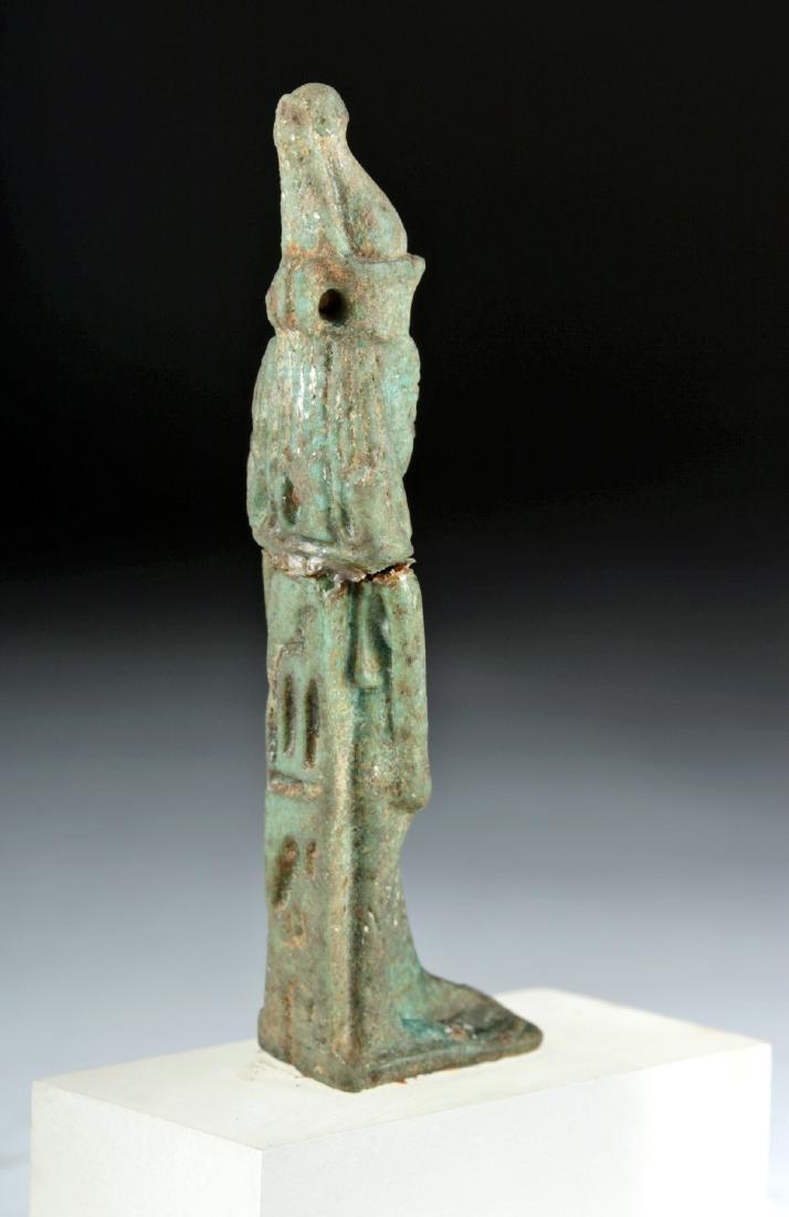 Egyptian Late Dynastic Faience Mut Amulet, ex-Bonhams - 4