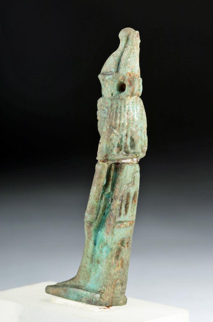 Egyptian Late Dynastic Faience Mut Amulet, ex-Bonhams - 5