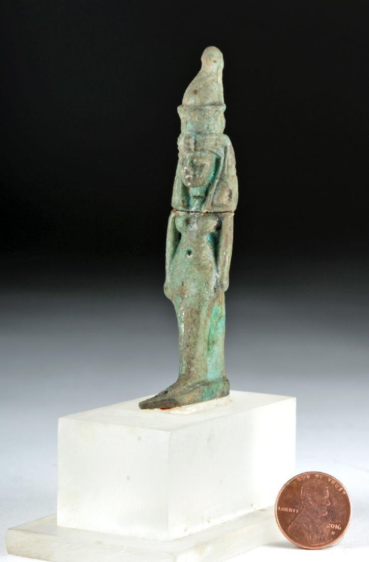 Egyptian Late Dynastic Faience Mut Amulet, ex-Bonhams - 6
