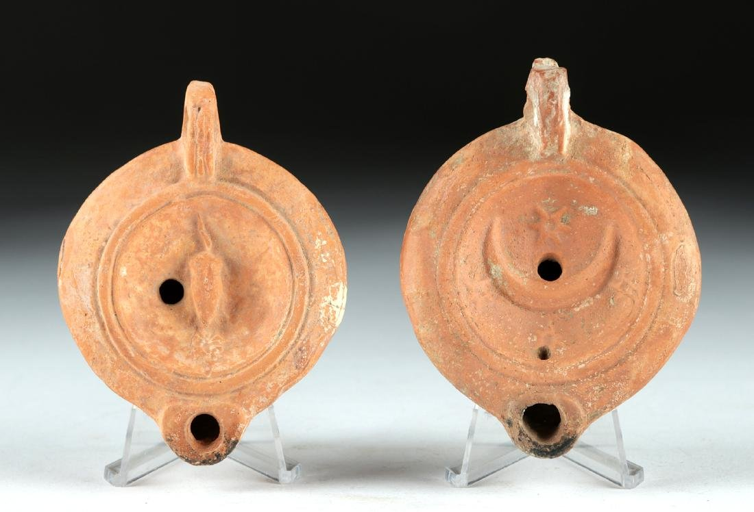 Lot of 2 Roman Pottery Oil Lamps, ex-Bonhams - 2