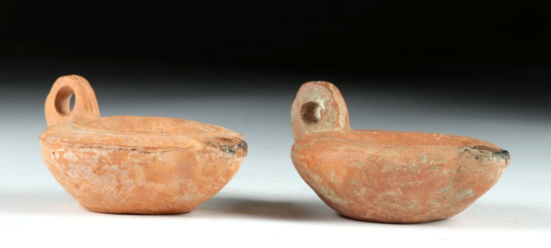 Lot of 2 Roman Pottery Oil Lamps, ex-Bonhams - 4