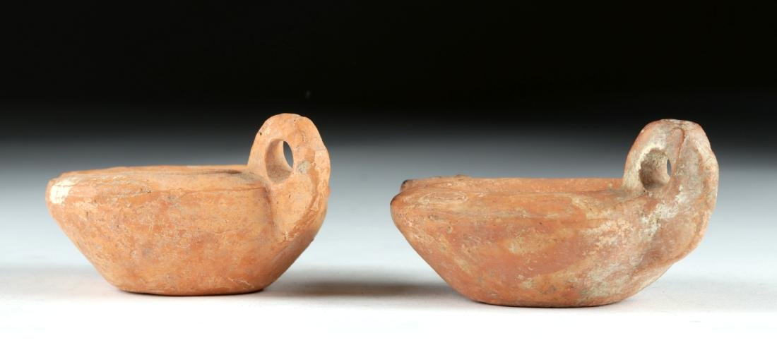 Lot of 2 Roman Pottery Oil Lamps, ex-Bonhams - 5