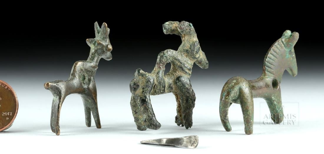 Lot of 4 Luristani Copper / Lead Miniature Figurines - 4