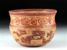 Mayan Copador Polychrome Bowl  Hero Twins Swimming