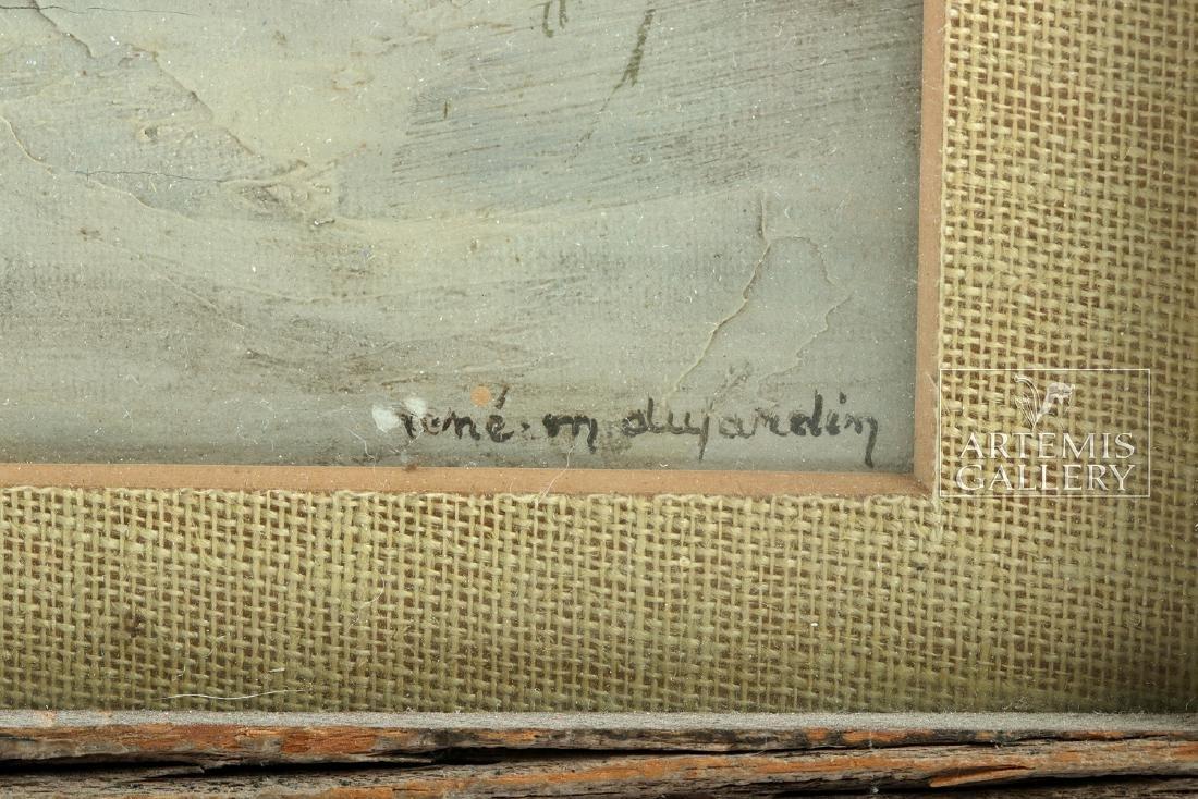 Signed / Framed Painting of Winter Scene - Dujardin - 3