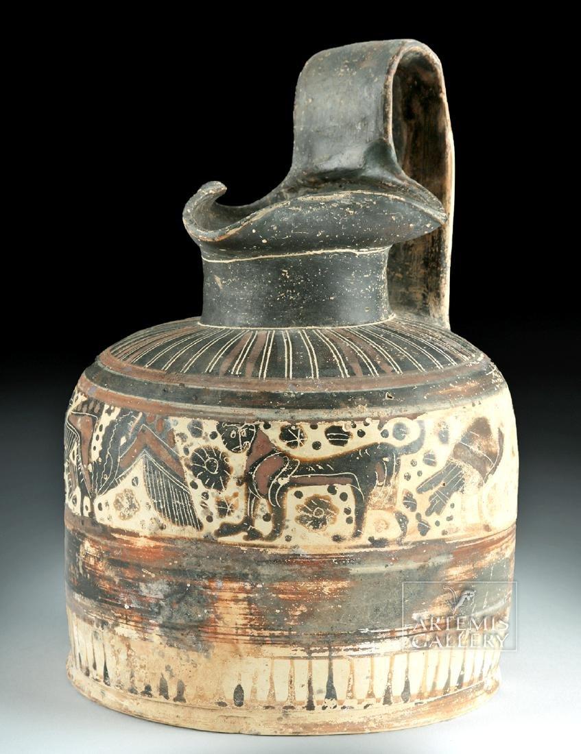 Corinthian Ceramic Trefoil Oinochoe - Harpies and Lions - 2