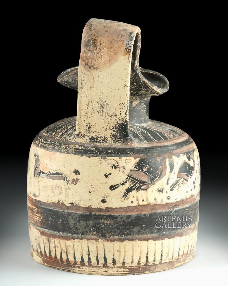 Corinthian Ceramic Trefoil Oinochoe - Harpies and Lions - 4