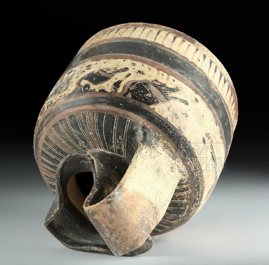 Corinthian Ceramic Trefoil Oinochoe - Harpies and Lions - 5
