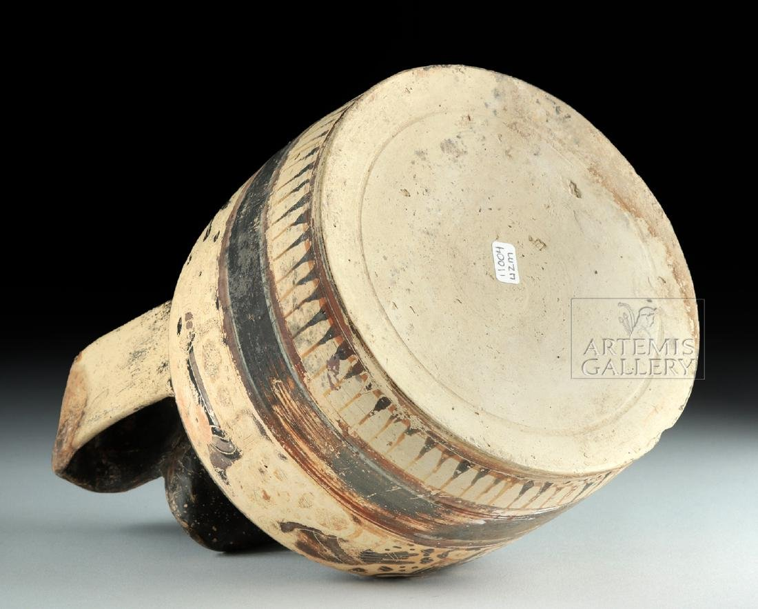 Corinthian Ceramic Trefoil Oinochoe - Harpies and Lions - 6