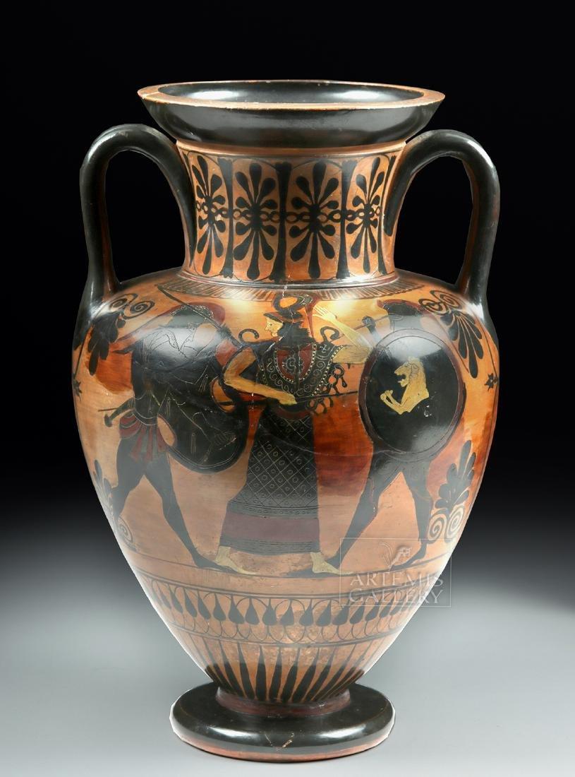 Greek Attic Amphora - Athena, Ajax, Achilles, Herakles