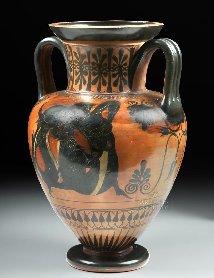 Greek Attic Amphora - Athena, Ajax, Achilles, Herakles - 2
