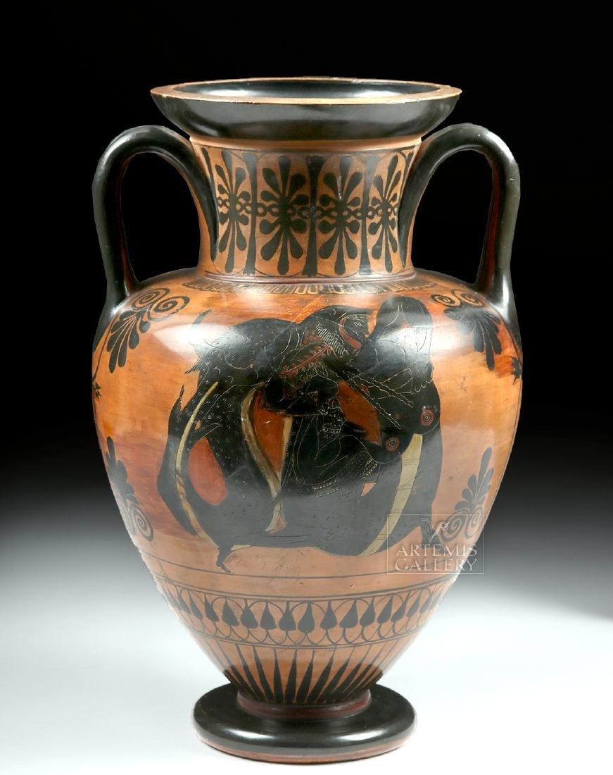 Greek Attic Amphora - Athena, Ajax, Achilles, Herakles - 4