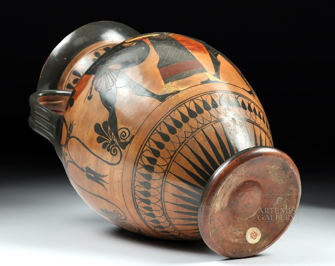 Greek Attic Amphora - Athena, Ajax, Achilles, Herakles - 6