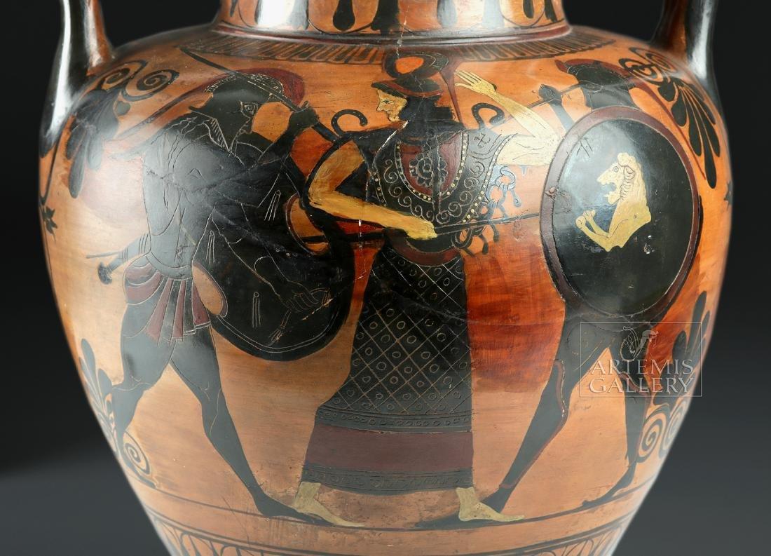 Greek Attic Amphora - Athena, Ajax, Achilles, Herakles - 7