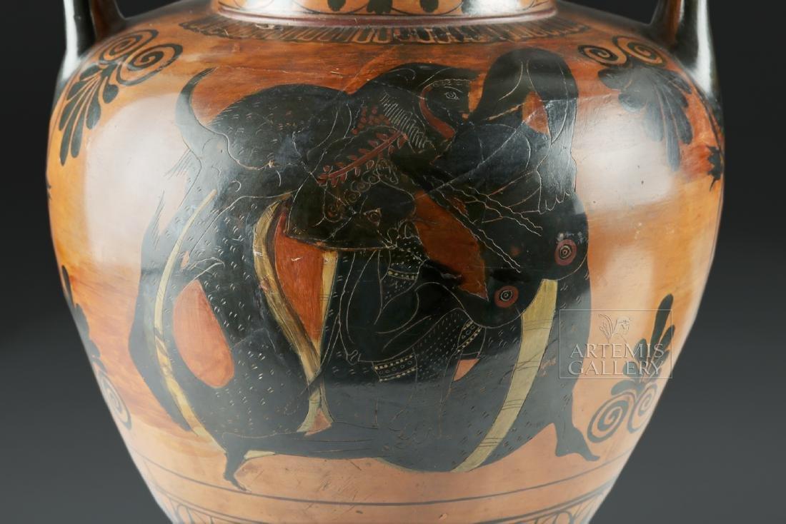 Greek Attic Amphora - Athena, Ajax, Achilles, Herakles - 8