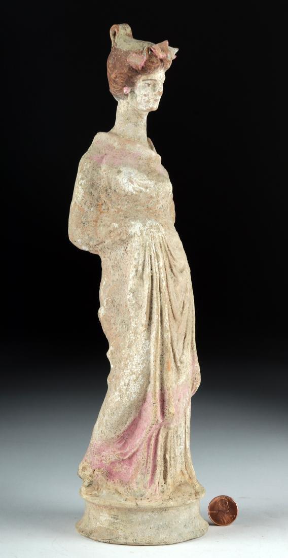 Greek Canosan Polychrome Statue of Woman