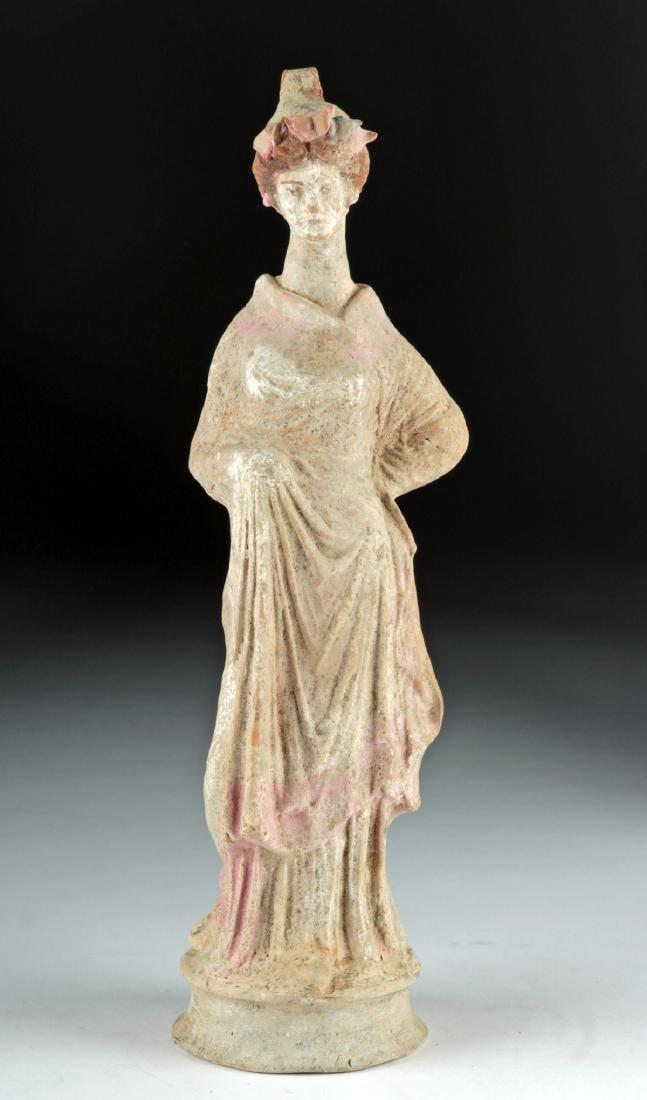 Greek Canosan Polychrome Statue of Woman - 2