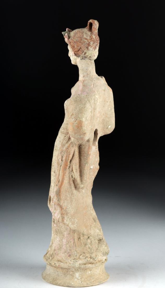 Greek Canosan Polychrome Statue of Woman - 3