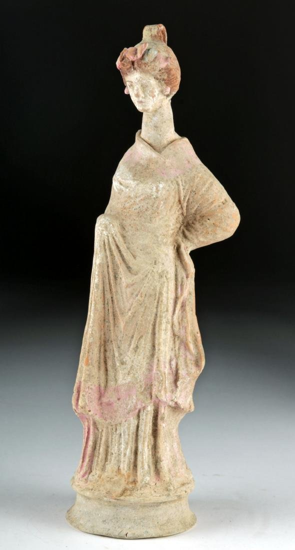 Greek Canosan Polychrome Statue of Woman - 4