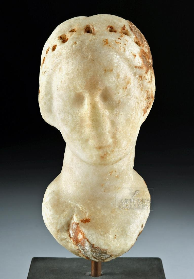 Greek Hellenistic Marble Bust of Aphrodite