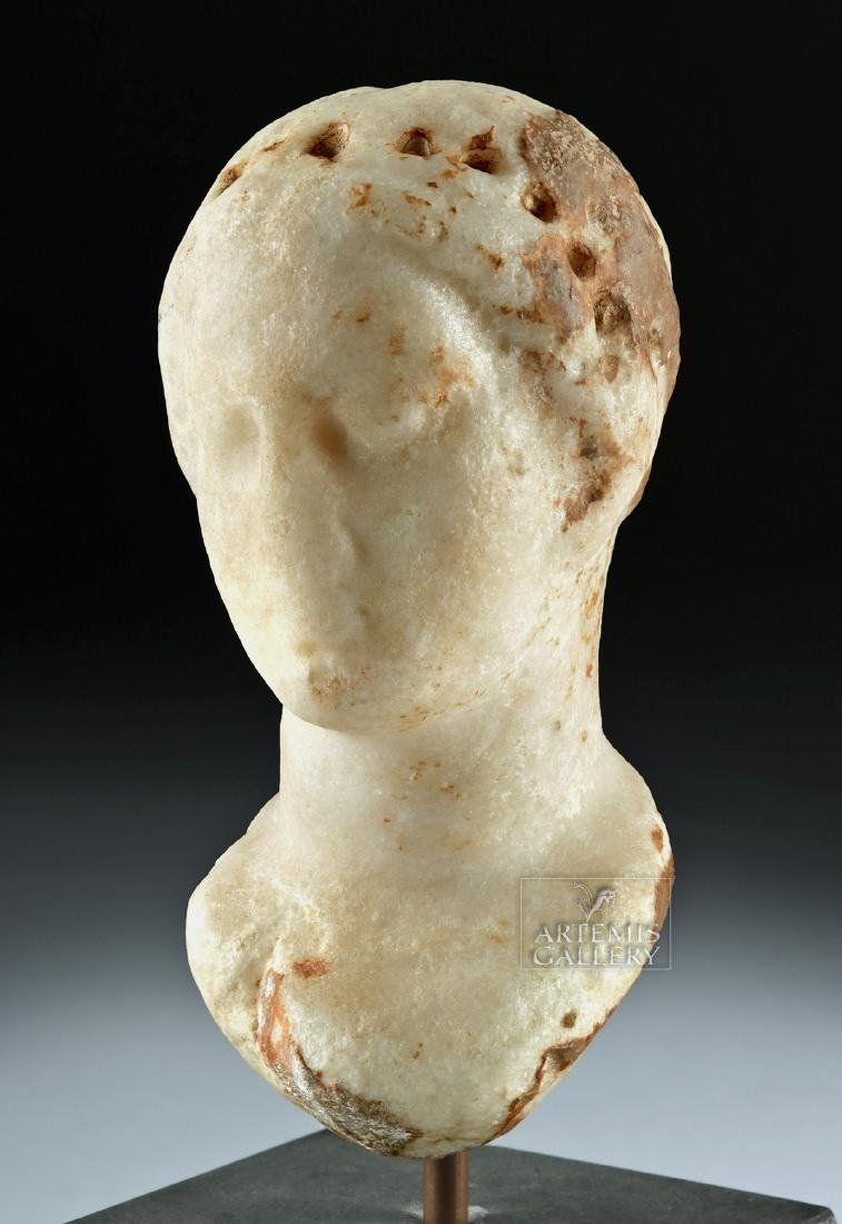 Greek Hellenistic Marble Bust of Aphrodite - 3