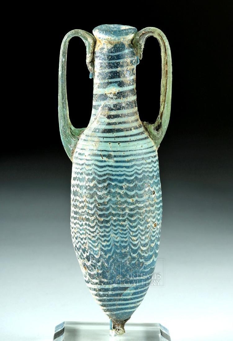 Greek Core Formed Glass Amphoriskos